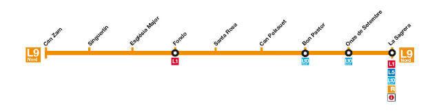 Metro Barcelone Ligne 9 Nord
