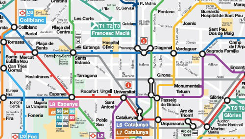 Carte Metro Barcelone 2018.Plan Metro Barcelone En Pdf Interactif Carte Version 2019