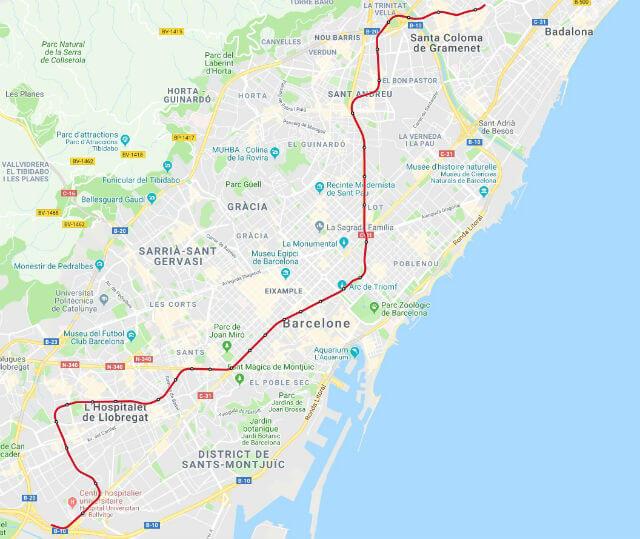 Plan Metro Barcelone Ligne 1