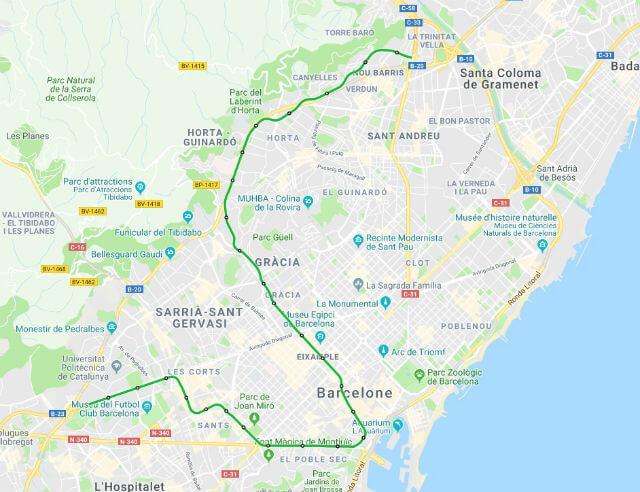 Plan Metro Barcelone Ligne 3