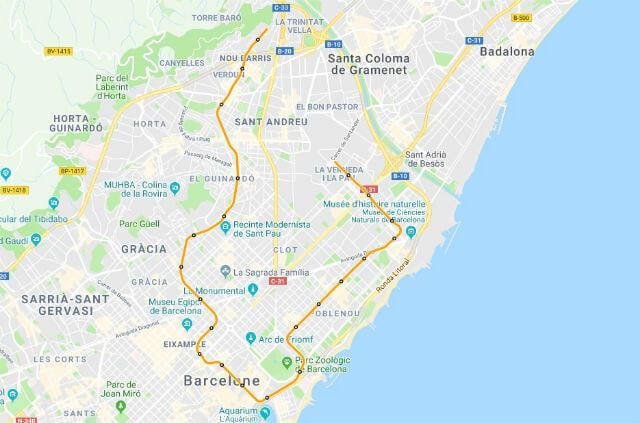 Plan Metro Barcelone Ligne 4