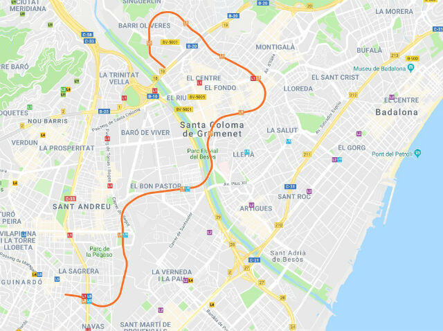 Plan Metro Barcelone Ligne 9 Nord