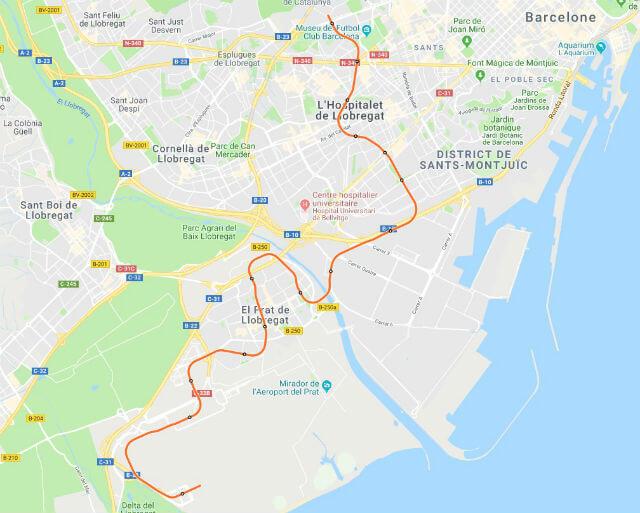 Plan Metro Barcelone Ligne 9 Sud