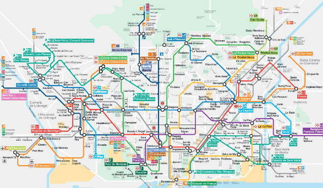 Carte Barcelone Telecharger.Plan Metro Barcelone En Pdf Interactif Carte Version 2019