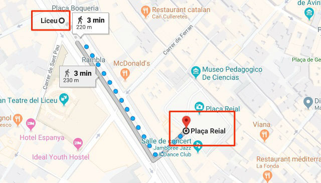 Plan Metro Barcelone Placa Reial