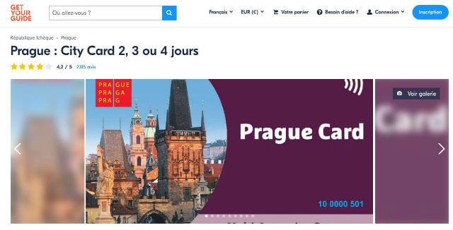 Acheter Prague Card
