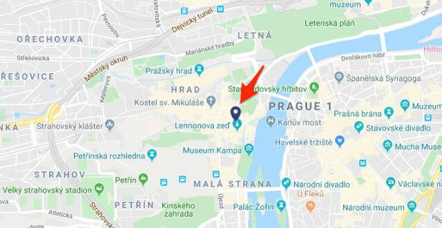 Retrait Prague Card Pont St Charles