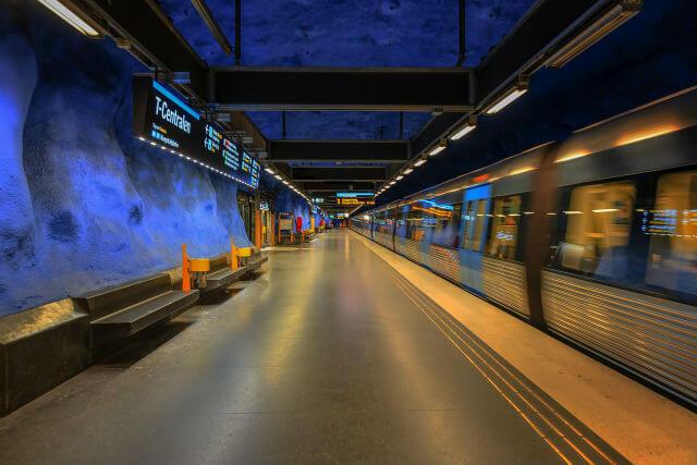 se déplacer en métro à Stockholm