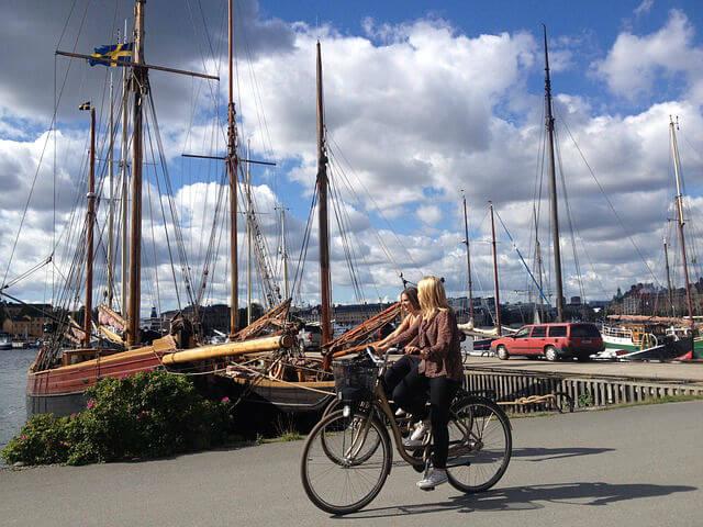 se déplacer en vélo à Stockholm