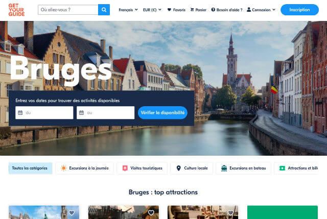 Billets visite Bruges