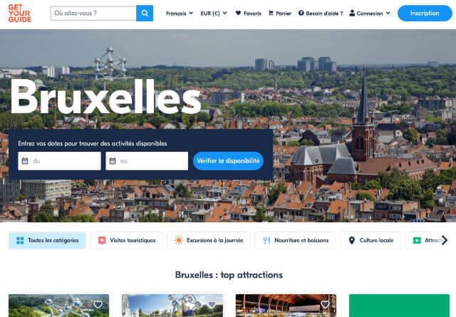 Billets visite Bruxelles