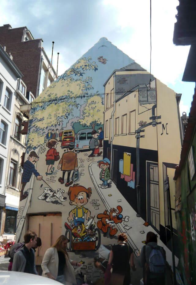 Fresque BD Bruxelles