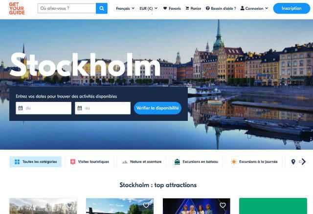 Billets Visite Stockholm
