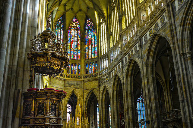 Intérieur Cathédrale Saint-Guy Prague