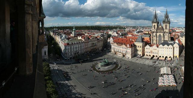 Vue depuis la tour Horloge Astronomique Prague