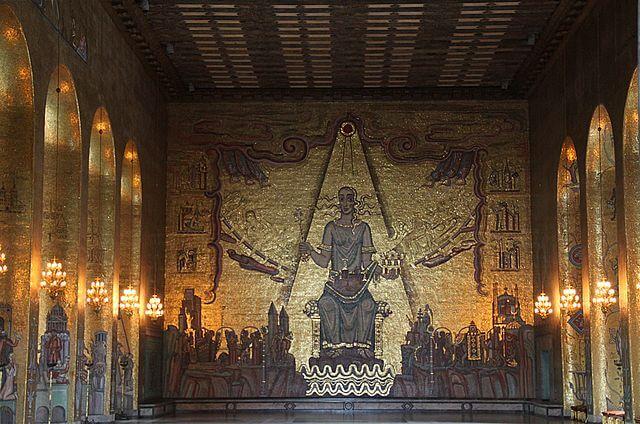 Salle dorée Mairie Stockholm