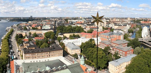 Vue tour mairie Stockholm