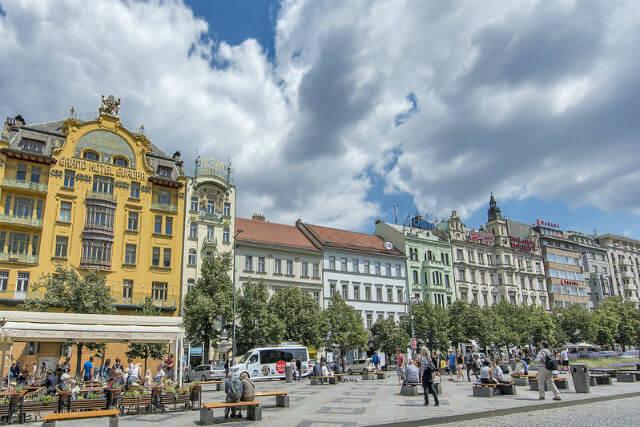 Place Venceslas Prague Bâtiment